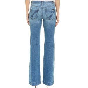 7 for all mankind dojo stretchy jeans Light blue